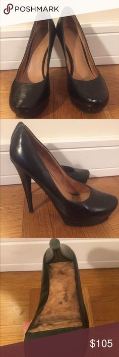 L.A.M.B Pumps Black leather pumps. Extremely comfortable and in good condition. Heel height 4.25. L.A.M.B. Shoes Heels