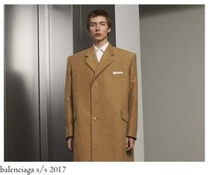 Classic timeless tailoring pieces reinterpreted in the Gvasalia way, meaning boxy-square jackets, reminding us almost the rugby-esque sh. Tailored Suits, Timeless Classic, Double Breasted Suit, Suit Jacket, Menswear, How To Wear, Jackets, Fashion, Down Jackets