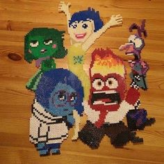 Inside Out characters perler beads by nastiwolf