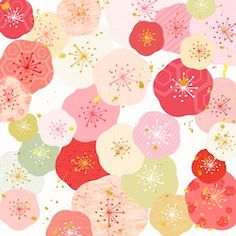 Japanese Plum, Japanese Paper, Japanese Fabric, Red Packet, Kimono Pattern, Prune, Japan Design, Pop Design, Digital Art Tutorial