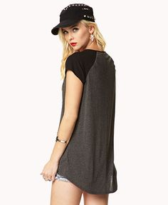 Chiffon Sleeve High-Low Top | FOREVER21 - 2048244788
