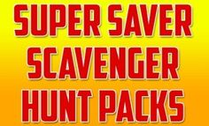 Get over 50% off Scavenger Hunt Clue Packs for children and adults. There are photo challenge scavenger hunt packs and riddle clue scavenger hunt packs on offer ...