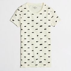 J.Crew Factory - Factory flocked heart collector tee