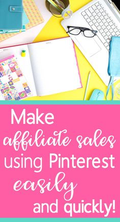 Learn how to make money with affiliate marketing on Pinterest the easy way. If you want to monetize your blog and increase sales, use Pinterest. Find out how! #affiliate