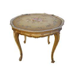 French Antique Tole Painted Table Shabby Chic Antique Furniture @rubylanecom #ShabbyChic #rubylane