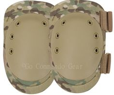 "MultiCam Multi-Purpose Knee Pads Fabric is 1000 Denier Cordura Nylon MultiCam U.S. Made and Licensed through Crye Industries 1/2"" Padding for Elbow Protection Cap Surface made of Non-Slip Rubber Gromm"