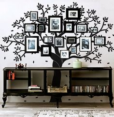 I love this!!! Family tree wall decal photo frame tree by Artoxo on Etsy, $148