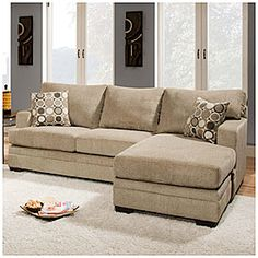 Simmons Columbia Stone Sofa Sectional