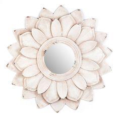 Lucy Flower Petal Wall Mirror   Kirklands