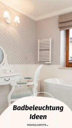 Mit den richtigen Badbeleuchtungs-Ideen lässt sich der Wohlfühlfaktor gleich verdoppeln. Dabei ist es wichtig, dass Du die perfekte Kombi aus praktischen Badleuchten für die alltäglichen Schönheitsprozeduren und stimmungsvollen Lichtquellen zum Entspannen findest. Wir zeigen Dir, was zu beachten ist. Mini Bad, Alcove, Bathtub, Bathroom, Design, Mirror With Lights, Shower Cabin, Ad Home, Standing Bath