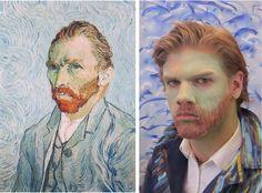 Teen tableau vivant project of Van Gogh's Self Portrait Van Gogh For Kids, Van Gogh Self Portrait, Tableaux Vivants, Pixel Crochet, Getty Museum, Ppr, Portraits, Art History, Mona Lisa