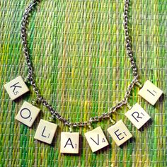 Jewels of Sayuri: Kolaveri scrabble tile necklace tutorial