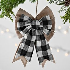 Our All Through the House Collection features farmhouse Christmas decorations that make your holiday warm and welcoming. Give your home rustic Christmas charm. Country Christmas, White Christmas, Christmas Wreaths, Christmas Crafts, Christmas Time, Buffalo Check Christmas Decor, Buffalo Plaid Christmas Ornaments, Bows For Christmas Tree, Farmhouse Christmas Ornaments