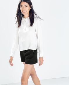 ZARA - MULHER - SHORTS CINTURA ALTA shorts