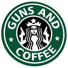 Guns And Coffee Art