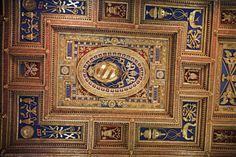 Papal insignia on the ceiling of the Basilica of St. John Lateran in Rome