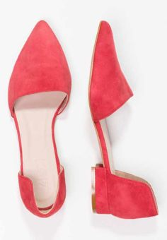 Red Cut Out Ballerinas