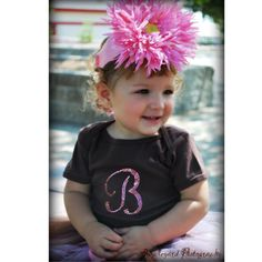 Personalized Rhinestone Initial Baby Onesie-Personalized Rhinestone Initial Baby Onesie,bling monogrammed onesie,couture baby clothing