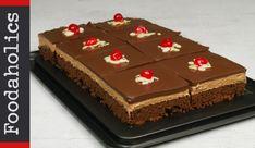 Σοκολατίνα πάστα-το γλυκό των γενεθλίων μας(Video)! Brownie Bar, Chocolate Cake, Sweet Recipes, Rolls, Health Fitness, Cupcakes, Pasta, Sweets, Desserts