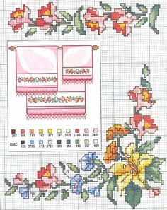 Cross-stitch Flowers... Solo Patrones Punto Cruz | Aprender manualidades es facilisimo.com
