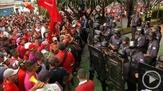 Thousands march in Sao Paulo in biggest anti-World Cup protest (Image © ITN)