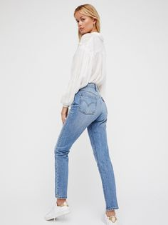 501 Skinny Jeans | The iconic Levi's 501 has been reimagined with a slimmer skinny leg and a high-rise.    * Fits straight through the hip and thigh   * Authentic denim   * Five-pocket style   * Button fly