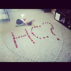 How to ask to homecoming homecoming how to ask to prom this way creative and sweet idea my daughter was asked to her high school homecoming hershey kisses rose petals teddy bear and him standing with roses in her room ccuart Images