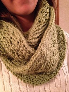 Ravelry: Chunky Lacy Loom Knit Infinity Scarf pattern by Dayna Scoles