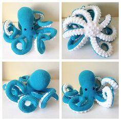 Crochet Octopus -  Pattern credit to @vanessamooncie