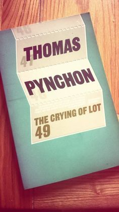 The Crying of Lot 49. Pynchon's second masterpiece of a novella. #waste