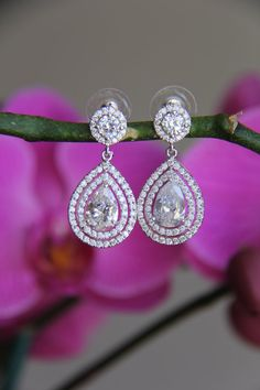 Bridal wedding round cubic zirconia CZ jewelry by terihuang