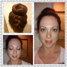 Hair and makeup worn to a good friend's spring wedding, 2013