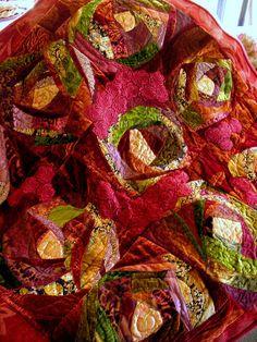 I ❤ crazy quilting . . . sensational . . . Crazy Velvet Patchwork Quilt