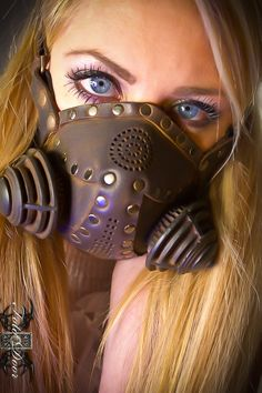 Steampunk Gas Mask Respirator in black iron colors by TomBanwell, $125.00
