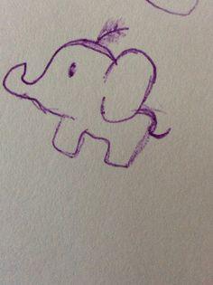 I simple cute elephant :D Cute Elephant, My Drawings, My Arts, Snoopy, Tattoos, Simple, Fictional Characters, Tatuajes, Tattoo