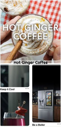 Ginger Coffee, Coffee Cocktails, Keep Cool, Coffee Recipes, Cocktail Recipes, Breakfast, Hot, Morning Coffee, Morning Breakfast