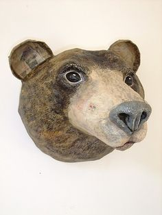 Emily Warren- paper mache bear head