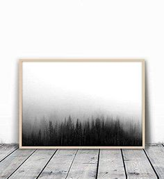 Forest Print Forest Photography Woodland Print Black and Black And White Wall Art, Black And White Portraits, Minimal Art, Forest Photography, White Photography, Photography Ideas, Minimalist Scandinavian, Minimalist Bedroom, Modern Minimalist