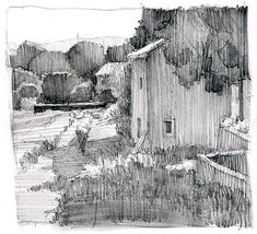 Winter Landscaping Mountains - - Landscaping Trees Sketch - - Landscaping Ideas DIY How To Build - Low Maintenance Landscaping Canada Privacy Screens Landscape Sketch, Landscape Drawings, Landscape Designs, Abstract Landscape, Landscape Paintings, Sketchbook Drawings, Drawing Sketches, Pencil Drawings, Art Drawings