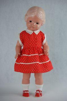 Schildkröt Puppe Bärbel 45cm alt antik 40er 50er Jahre Celluloid Zelluloid top!! | eBay