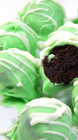 Inspired By eRecipeCards: Girl Scout NO BAKE Thin Mint Truffles - EASY PEASY!