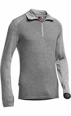 51eabcf6d8 Icebreaker Men's Shirt Base Layer Long Sleeve Turtleneck Tech Long-Sleeved  Half Zip Stripe