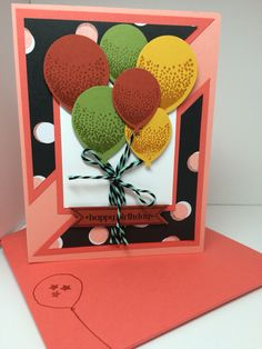Stampin Up Balloon Bouquet punch and Ballon Celebration Stamp Set.