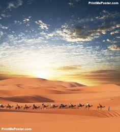 Poster of Caravan in desert, Nature Posters, #poster, #printmeposter, #mousepad, #tshirt