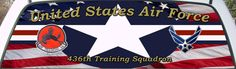 US Air Force 436th Trainning Squadron Rear Window Graphic Mural.