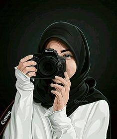 Tutorials hair flow art drawing inspiration i Cute Cartoon Girl, Cartoon Art, Cartoon Design, Cover Wattpad, Hijab Drawing, Islamic Cartoon, Hijab Cartoon, Islamic Girl, Girly Drawings