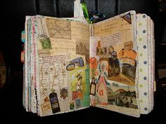journal filled with all sorts of memorabilia and cool stuff