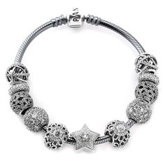 PANDORA Superstar Bracelet - You're a Superstar!! Make a wish upon a star that this bracelet is yours this holiday season! This bracelet dazzles and shines and is perfect for holiday gift giving!! Give someone that you think is a complete Superstar this shimmering bracelet!!