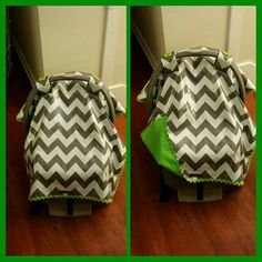 Universal carseat canopy make by Esther Fortis.