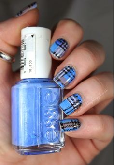 39 Awesome Plaid Nail Art Designs for Your Preppy Days . Plaid Nail Designs, Plaid Nail Art, Plaid Nails, Nail Art Designs, Nails Design, French Nails, Manicure E Pedicure, Manicure Ideas, Super Nails